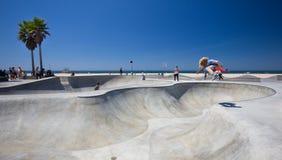 Het Strand Skatepark van Venetië Stock Afbeelding