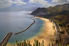 Het Strand Tenerife van Teresitas Stock Foto's