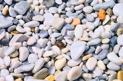 Het strand Toscanië van de kiezelsteen Stock Afbeelding