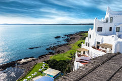 Het Strand Uruguay van Punta del Este van Casapueblo Stock Foto