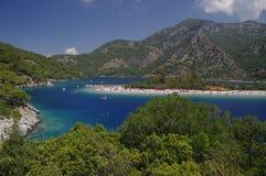 Het strand van Ãlà ¼ deniz, Turkije Stock Foto's