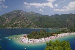 Het strand van Ãlà ¼ deniz, Turkije Stock Foto