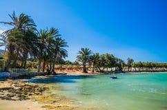 Het strand van Agiairini, Paros-eiland, Griekenland Royalty-vrije Stock Foto's