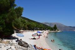 Het strand van Agiaparaskevi, royalty-vrije stock afbeeldingen