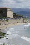 Het strand van Ajaccio Stock Afbeelding