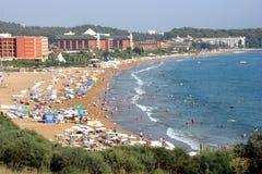 Het strand van Alanya Stock Afbeeldingen