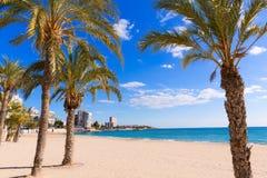 Het strand van Alicante San Juan van La Albufereta stock afbeeldingen