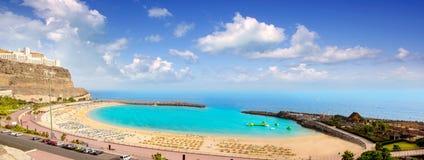 Het strand van Amadores in Gran Canaria royalty-vrije stock foto's