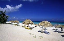 HET STRAND VAN AMERIKA CUBA VARADERO royalty-vrije stock afbeelding