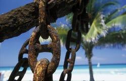 HET STRAND VAN AMERIKA CUBA VARADERO Stock Afbeeldingen