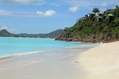 Het strand van Antigua Stock Foto's