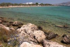 Het strand van Antiparos, Cycladen Stock Afbeelding