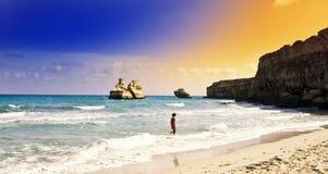 Het strand van Apulia Stock Foto