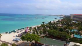 Het strand van Aruba Stock Foto