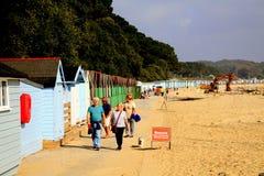 Het strand van Avon, Mudeford, Dorset Royalty-vrije Stock Afbeeldingen