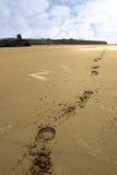 Het strand van Ballybunion hoofprints Royalty-vrije Stock Afbeelding