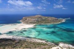 Het strand van Balos bij het eiland van Kreta in Griekenland Stock Foto