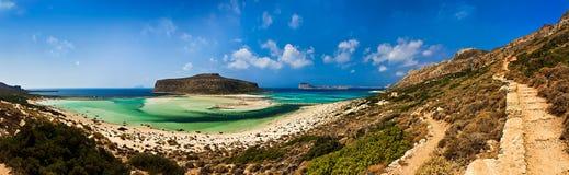 Het strand van Balos en lagune, Kreta, Griekenland Stock Foto's