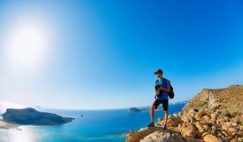 Het strand van Balos, Kreta stock afbeelding