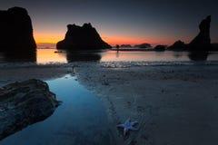 Het strand van Bandon Stock Foto