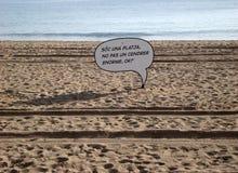 Het strand van Barcelona Stock Foto