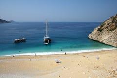 Het strand van Beautifull stock afbeeldingen