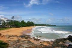 Het strand van Bentota, Sri Lanka Stock Foto's