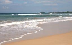 Het strand van Bentota, Sri Lanka Stock Afbeeldingen
