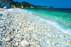 Het strand van Bianco van Capo, het eiland van Elba. Stock Fotografie