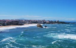 Het Strand van Biarritz Stock Afbeelding