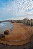 Het strand van Biarritz Stock Foto's