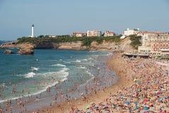 Het Strand van Biarritz - Grande- Stock Afbeelding