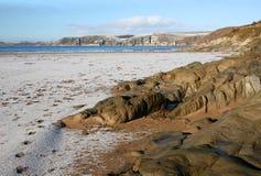 Het strand van Bigbury stock afbeeldingen
