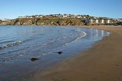 Het strand van Bigbury stock foto's