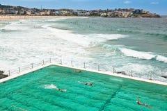 Het Strand van Bondi en Zwembad stock fotografie