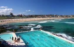 Het strand van Bondi in Sydney, Australië Stock Afbeeldingen