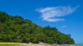 Het strand van Borneo Stock Foto