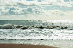 Het strand van Bournemouth, Dorset Stock Foto's