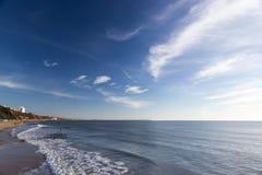 Het strand van Bournemouth, Dorset, het Verenigd Koninkrijk stock afbeelding