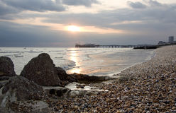 Het Strand van Brighton Stock Foto