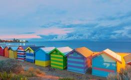 Het strand van Brighton huisvest Australië Royalty-vrije Stock Fotografie