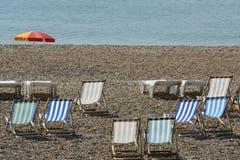 Het strand van Brighton. Sussex. Engeland Stock Afbeelding