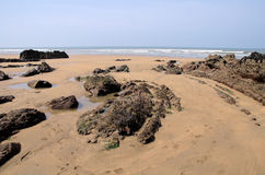 Het strand van Bude Stock Foto