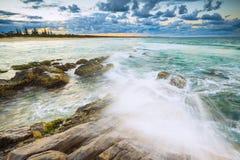 Het strand van Cabarita Stock Foto