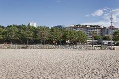 Het strand van Calella Stock Afbeelding