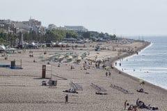 Het strand van Calella Royalty-vrije Stock Foto