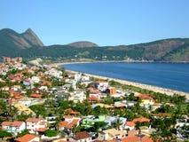 Het strand van Camboinhas Stock Afbeelding