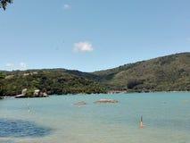 Het strand van Camboriubrazilië Stock Afbeelding
