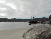 Het strand van Camboriubrazilië stock fotografie
