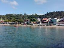 Het strand van Camboriubrazilië Royalty-vrije Stock Afbeeldingen